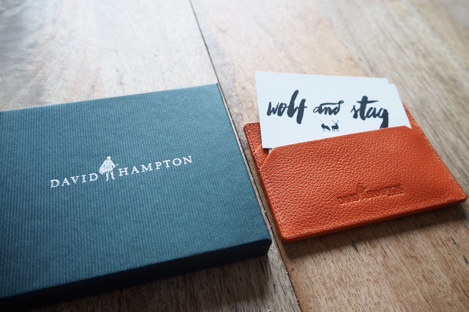 David Hampton Leather Card Holder Giveaway