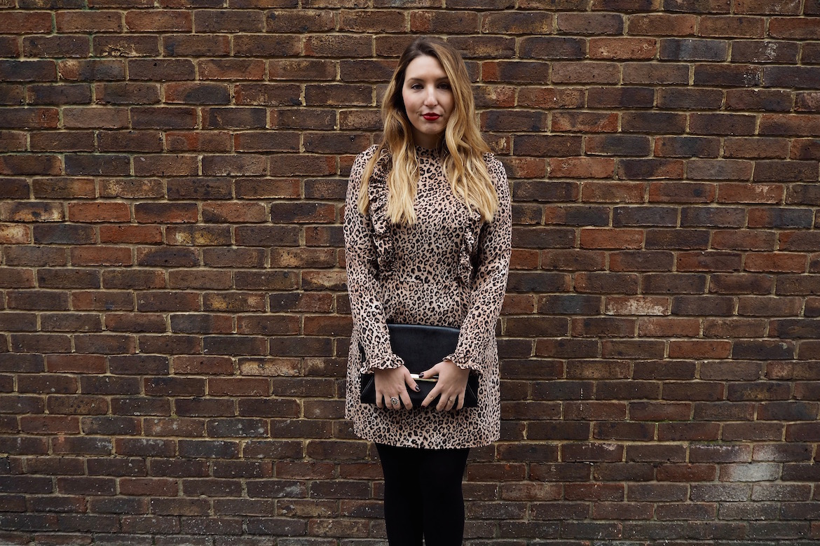 41ebfbee02b My Kind of Fancy  A Leopard Print Ruffle Dress » Wolf   Stag