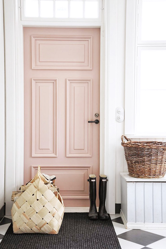 Superbe Pink Ground Wall Paint Color By Farrow U0026 Ball. A Gorgeous Blush Pink  Vintage Door ...