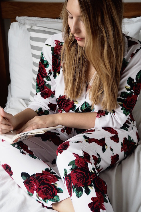 Valentines Day Cosy at Home in my ASOS Rose Pyjamas | Wolf & Stag