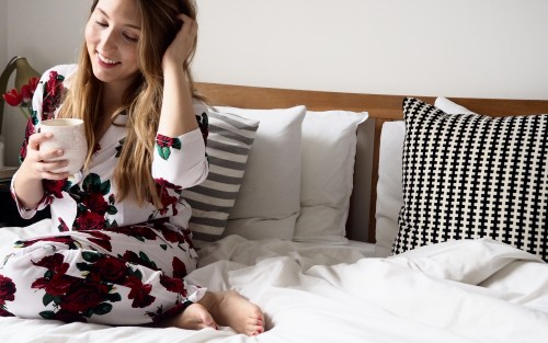Valentine's Day at Home with Rose ASOS PJs | Wolf & Stag