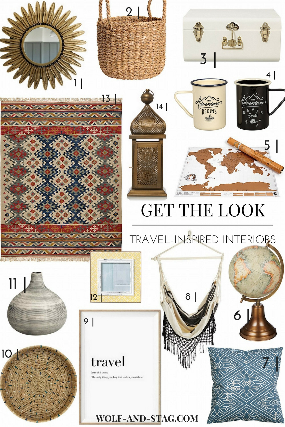Get the Look: Travel-Inspired Interiors | Wolf & Stag