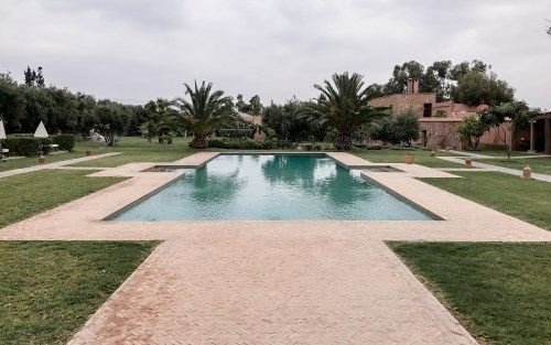 The pool of the Hotel Capaldi, Marrakech Morocco