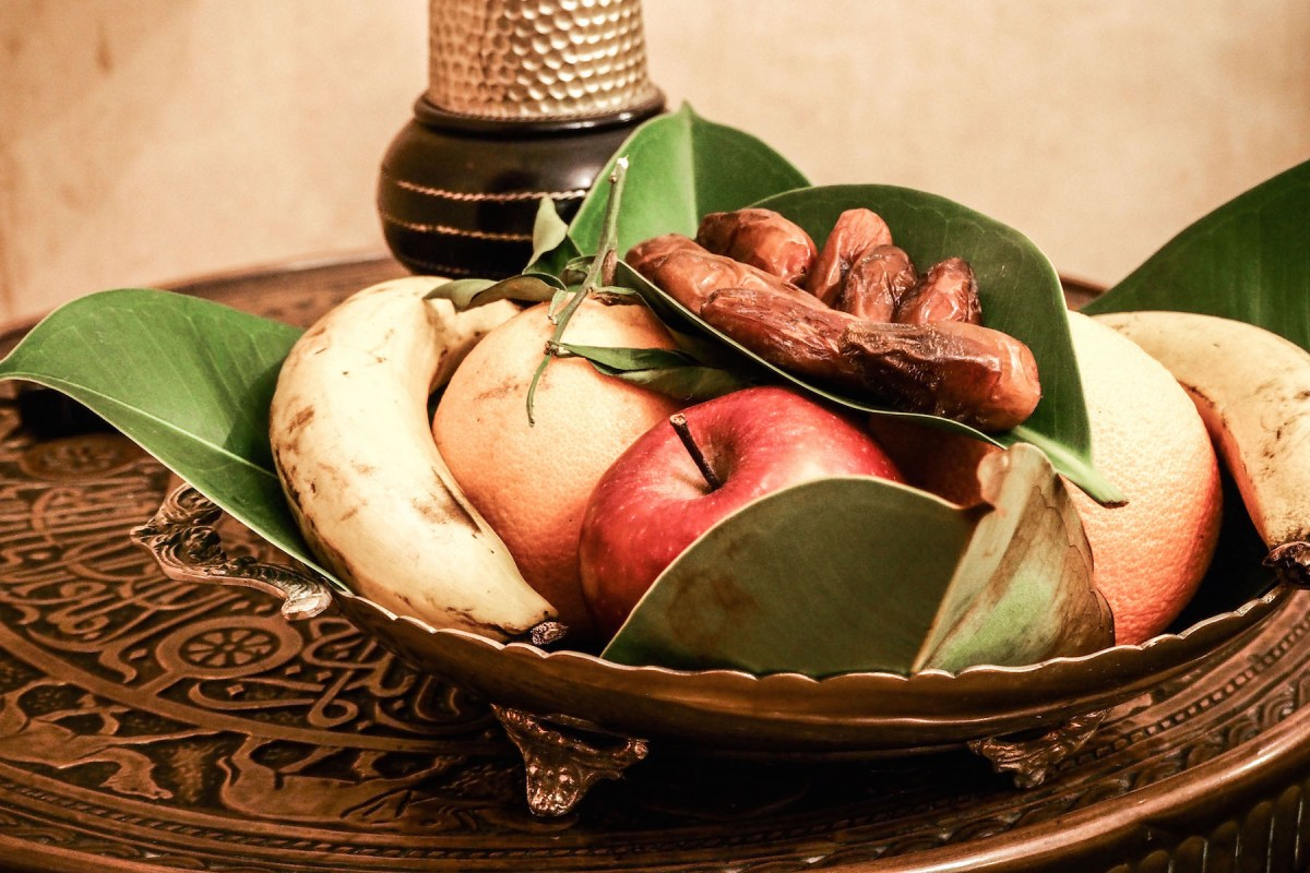 Fruit bowl at Riad Kniza, Marrakech