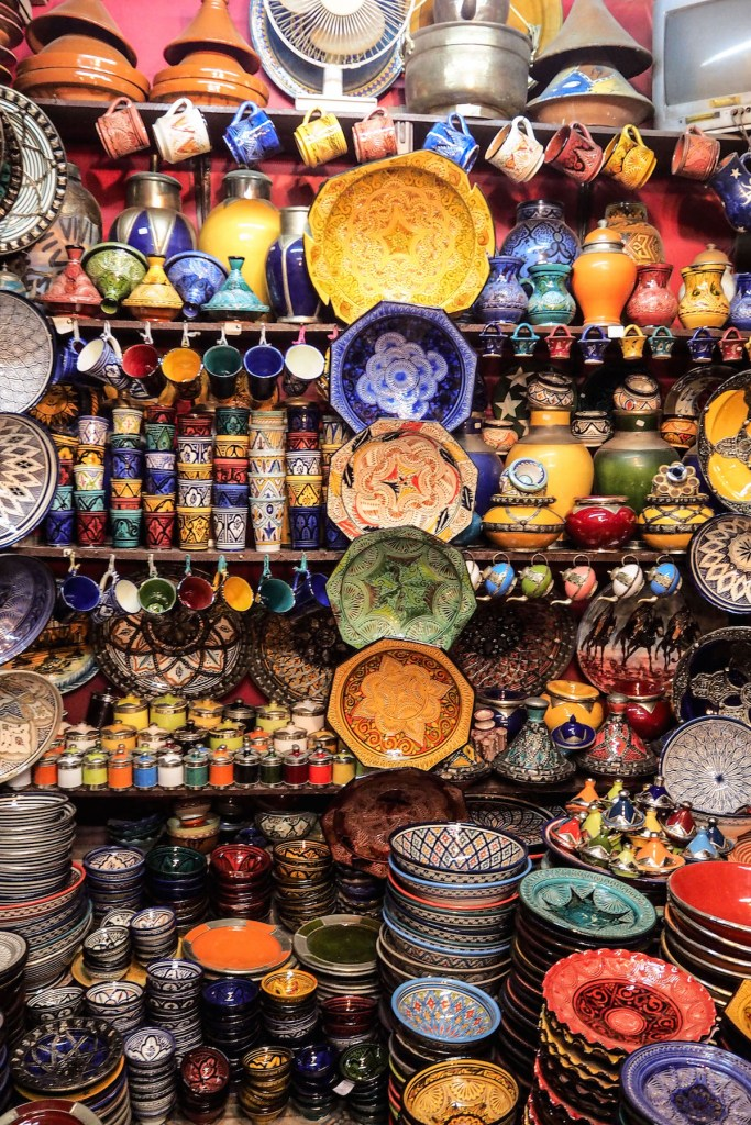 Colourful pottery at the souks | Wolf & Stag's Travel Guide to Marrakech, Morocco