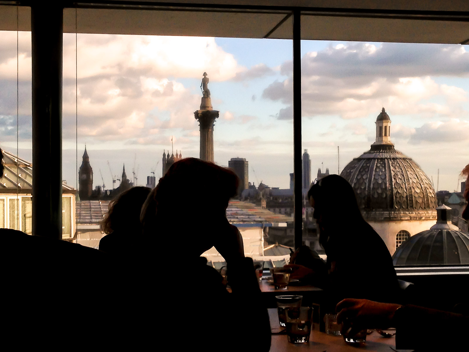 Visiting London: Tourist Sites to hit...and the ones to miss | Views at the National Portrait Gallery Restaurant | Wolf & Stag