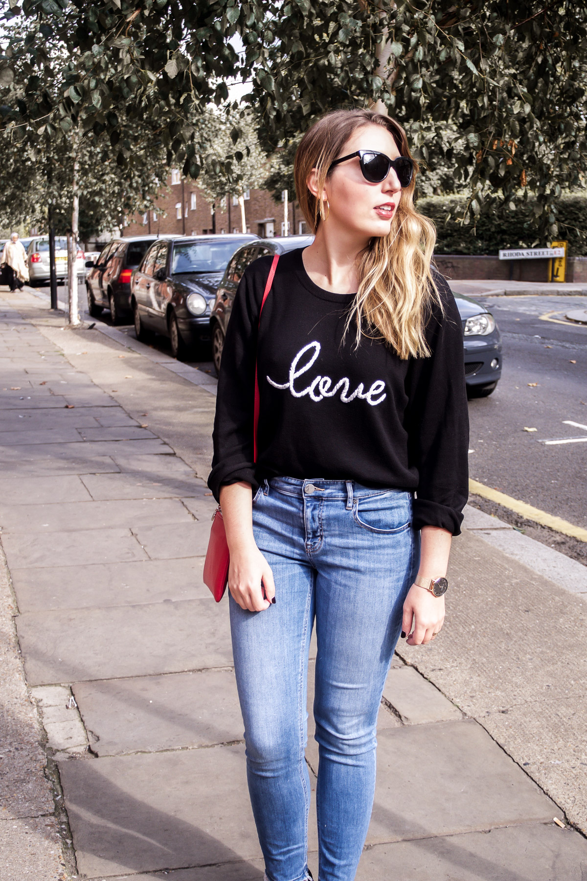 Autumn fashion: Hush love jumper, Lou & Grey jeans, Dune loafers, Neubau Eyewear sunglasses, Aurora London bag | Wolf & Stag
