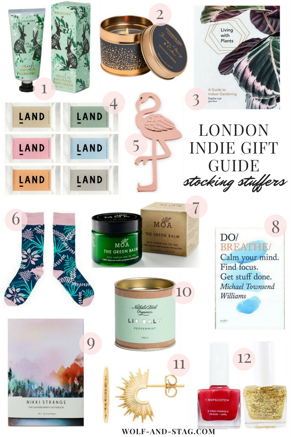 Holiday Gift Guides 2017 | Featuring the best stocking stuffers from independent makers, retailers and brands from London | Wolf & Stag