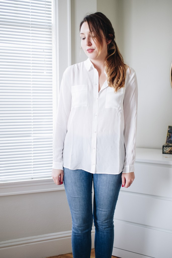 An Honest Review of Sezane | Featuring the Boy Shirt in Ecru in a Size US 6 | Wolf & Stag