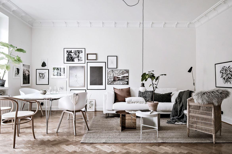 Interiors inspiration scandehemian style wolf stag - Decoracion de apartamentos modernos ...