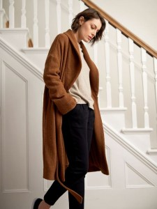 The Sustainable Winter Coat Edit | Thought Clothing Brown Wool Coat
