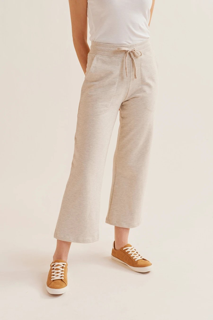 KOTN culotte sweatpants in Oat Melange