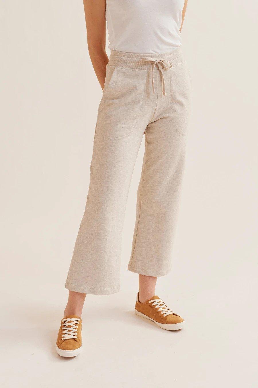 KOTN culotte sweatpants in Oat Melange
