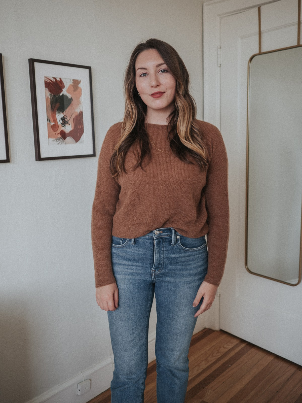 An honest review of Sezane | Gaspard jumper in Camel | W&S