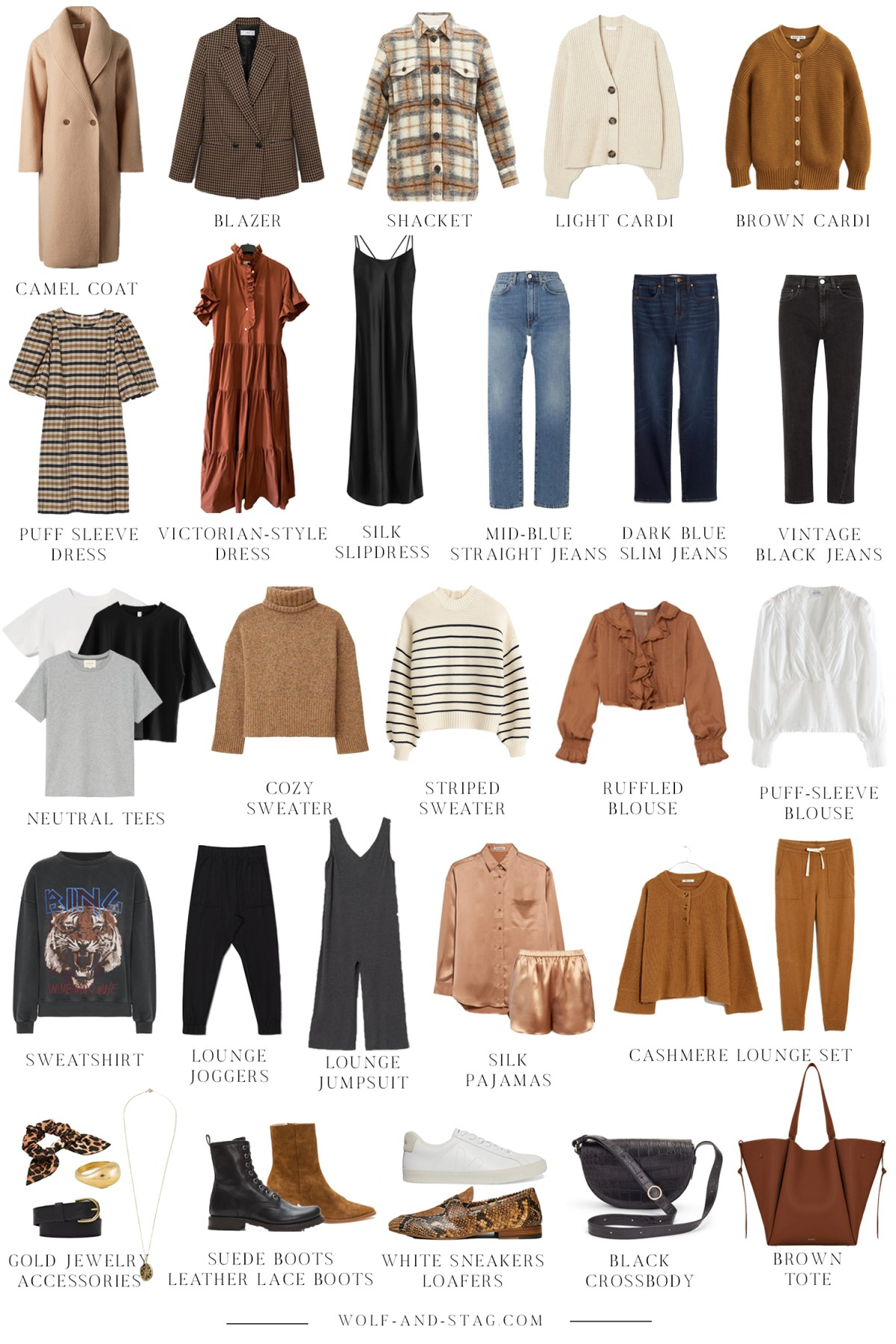 The (Mostly) Sustainable Autumn Capsule Wardrobe | all the pieces you need to create a cohesive and streamlined wardrobe for Autumn and beyond | W&S