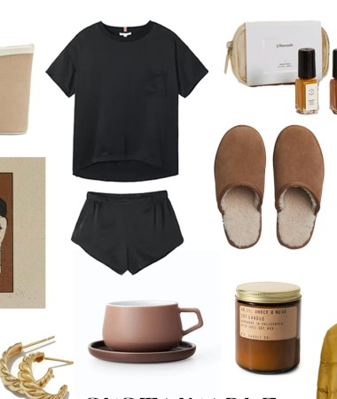 Sustainable Holiday Gift Guides: Gifts for Her | an edit of comfortable, useful, and sustainable gifts for the holidays, or even for yourself | W&S