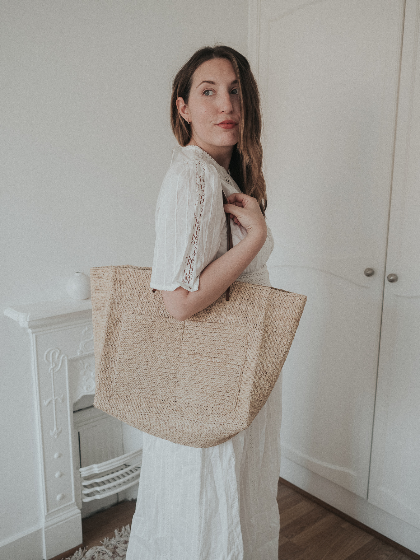 An honest review of Sezane | Maitena Embroidered White Maxi Dress in Ecru | W&S