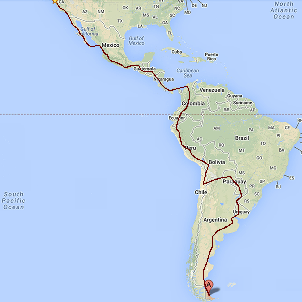 This is the very rough plan of our route.