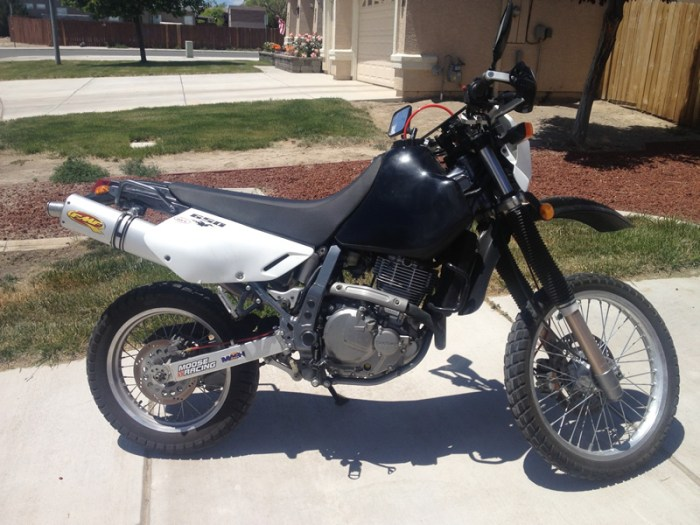 A very clean 2004 DR650, hiding in Fernley, NV.