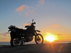 Sun goes down on the Zebramobile