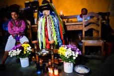 Maximon, a very popular folk saint from the shores of Santiago de Atitlan