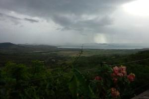 Bahia de Salinas under inauspicious skies