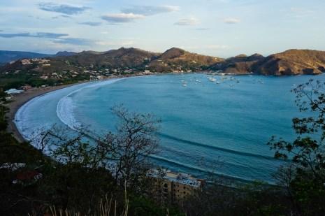 The crescent bay of San Juan del Sur