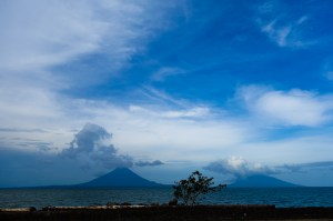 The twin volcanoes of Concepción and Maderas that make up Ometepe Island