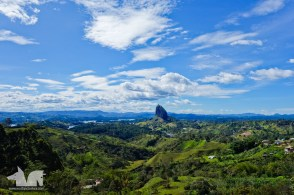 El Peñon poking out over the Guatape countryside