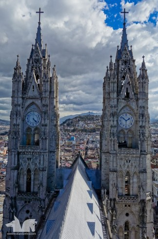 From the roof of the Cathedral of Quito
