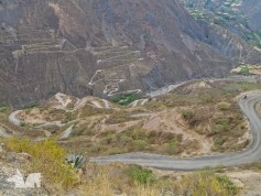The only way up and down the mountains in Northern Peru