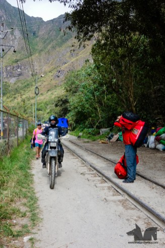 The Wolf was adamant it was possible to ride to Aguas Calientes. It took a Police station and a military outpost to dissuade him.