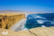 The amazing coastline of the Paracas National Parc