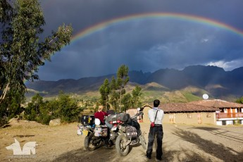 After a long day of riding we were treated to the brightest rainbow ever