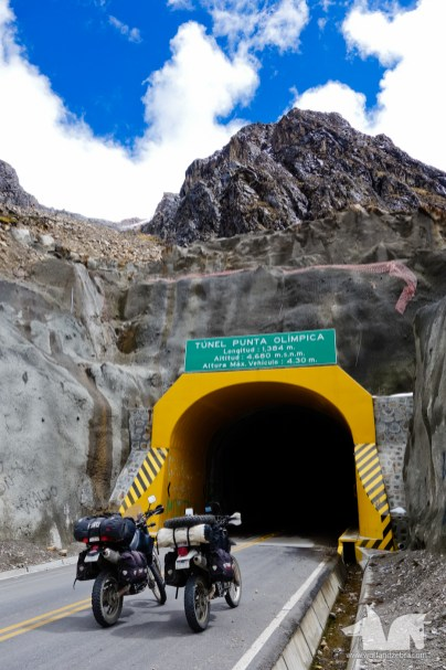 Tunnel Olimpica, the highest tunnel in the world
