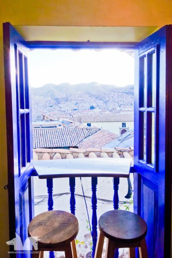 Enjoy a tasty meal at La Caverne del Oriente, a lovely French restaurant, while admiring Cusco rooftops