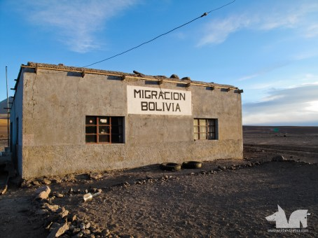 The hut that served as the immigration and customs office to exit Bolivia