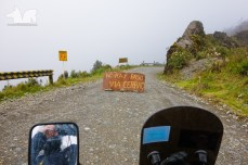 Believe it or not the Nor Yungas road was closed for construction on the day of my visit. A sign has never stopped the Wolf mobile!