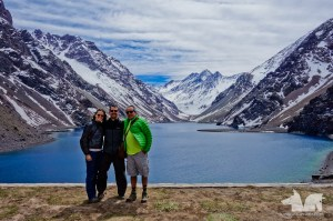 Posing with Pato in front of the Laguna del Inca