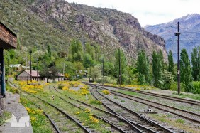 The abandoned train station at Los Andes