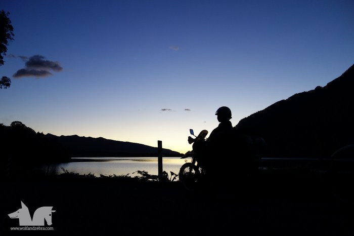 Pristine evening light as we rode from the last ferry of the day into Chaitén