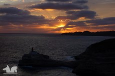 The sun bidding his farewell to Bonifacio for the day