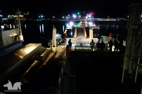 The Navimag reaching the Puerto Montt harbor