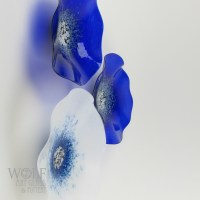 Blown Glass Wall Art Sculptures, Flowers, & Rondels at