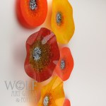 Blown Glass Wall Art Glass Ornaments And Blown Recycled