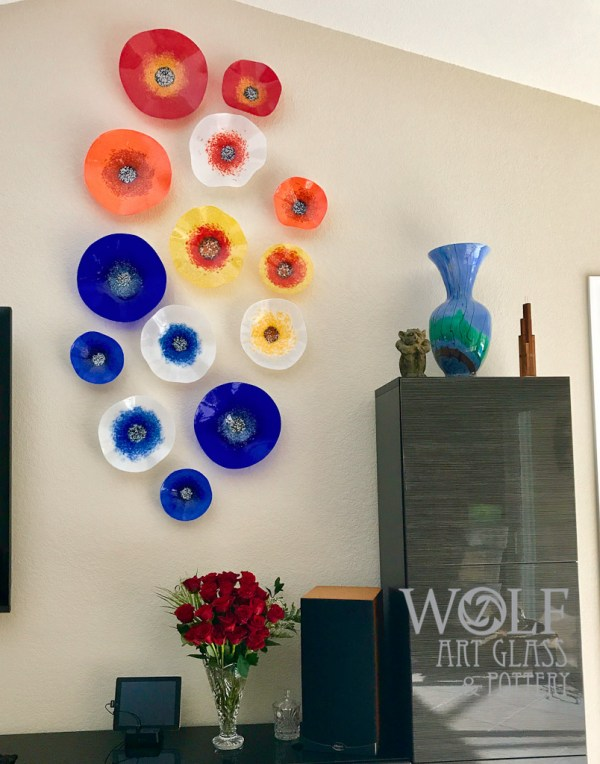 Blown Glass Wall Art Ornaments And Recycled