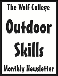 Wolf College Monthly Outdoor Skills Newsletter Cover Draft