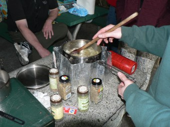 Camp Stove Soup Cooking with Wilderness Chef Charlie Borrowman