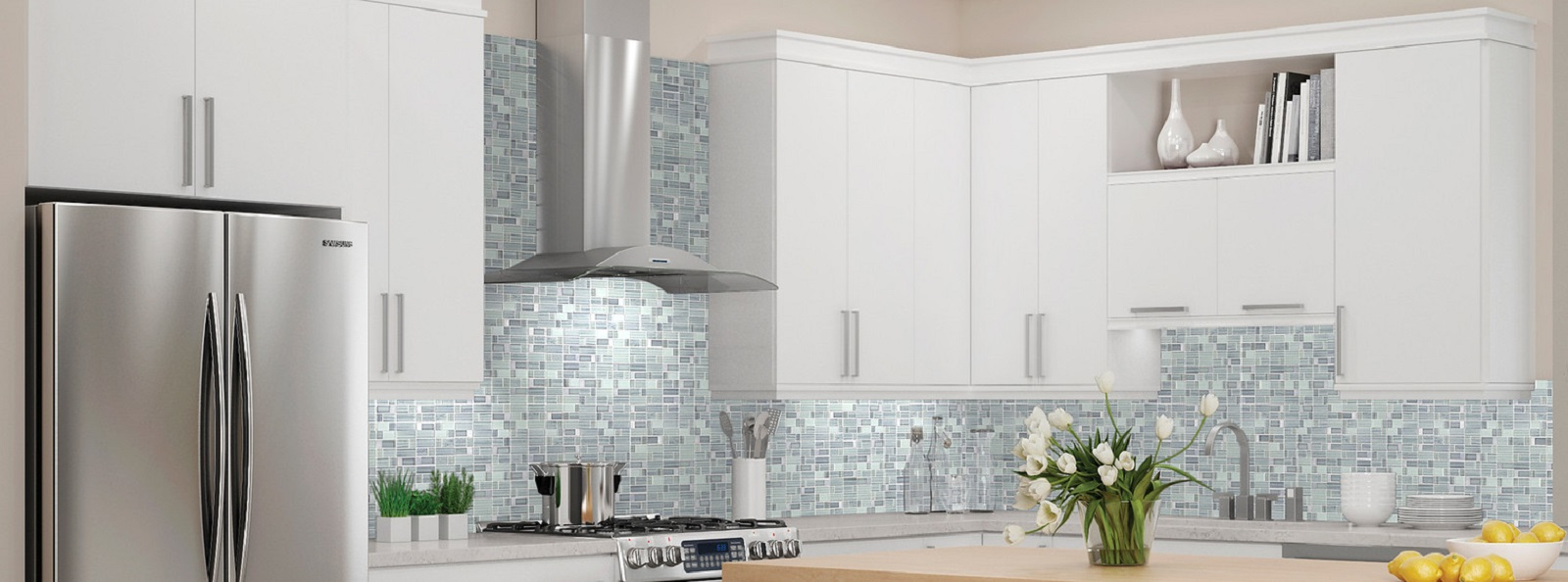 use mosaic tile beyond the kitchen