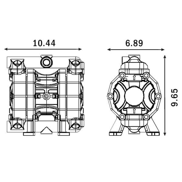 High Flow Diaphragm Pump – Polypropylene